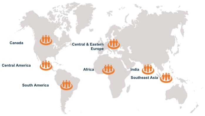 SquadGurus Global Network covers all major global delivery regions